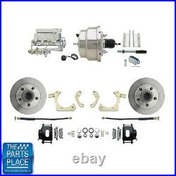 1955-58 GM Full Size Disc Brakes With 8 Dual Chrome Booster Conversion Kit #310-B