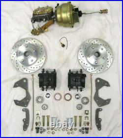 1965 to 1968 Chevy Full Size Power Disc Brake Conversion Kit w Booster Valve ++