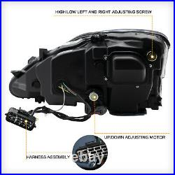 CLEAR FULL LED Headlights for 2010-2015 C/ C F Conv Front Lights Assembly