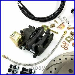 Chevy 10 & 12-Bolt Axle 5x4.75 Rear Disc Brake Conversion Kit with E-Brake Cable