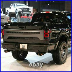 Custom FULL LED SMOKED Taillights with RED Turn Sig for 18-20 FORD F-150 All Trims
