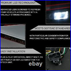 Customized MK7.5 Style RED CLEAR FULL LED Taillights for 16-17 VW Golf MK7 / GTI