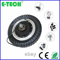E-Tech 400with48v Brushless Gearless 12in Ebike Scooter Conversion Kit Hub Motor
