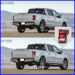Free Shipping to PR for 15-20 FORD F-150 FULL LED Clear Taillights RED Turn Sig