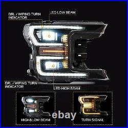 Free Shipping to PR for 18-20 F-150 Black FULL LED Headlights + SMOKE Taillights