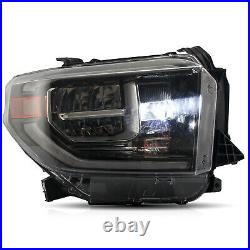 Free Shipping to PR for 2014-2020 Toyota Tundra Full LED Black Headlights withDRL