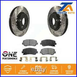 Front Coated Drilled Slotted Disc Brake Rotor And Ceramic Pad Kit For Mazda CX-5