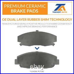 Front Coated Drilled Slotted Disc Brake Rotors And Ceramic Pads Kit Audi Q5