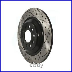 Front Rear Coated Drilled Slot Disc Brake Rotors Kit For 2014-2021 Jeep Cherokee