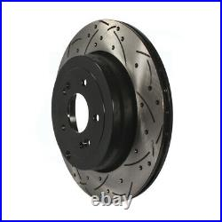 Front Rear Coated Drilled Slotted Disc Brake Rotor Kit For Hyundai Genesis Coupe