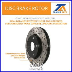 Front Rear Coated Drilled Slotted Disc Brake Rotors Kit Mazda 3 CX-3 Sport