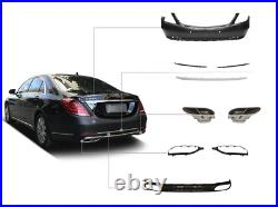 Replacement W222 Maybach 560 Full Conversion Body Kit Bumpers Grille S63 2018-UP