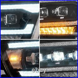 VLAND FULL LED Projector Headlights Sequential Turn For 2019-2021 Dodge Ram 1500