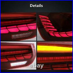 VLAND GTS OLED STYLE FULL LED RED Sequential Tail Lights For 12-18 BMW F30 F80