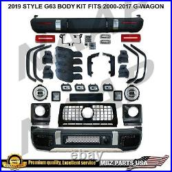 W463 to G63 Full Conversion 2019 Body Kit Bumpers Flares tail lights G500 G550
